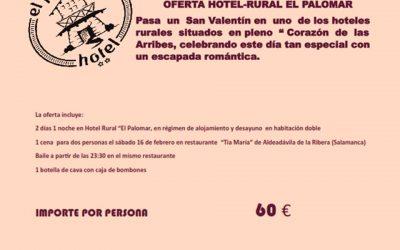 Celebra San Valentín con tu pareja en El Hotel Rural El Palomar